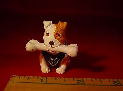 "Hood Pups  Chomper Pit Bull Dog 2"" Figure with bone hard to find collectible"