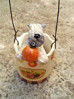Soft Coated Wheaten Terrier in a FALL/HARVEST PAIL!
