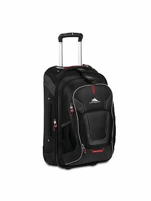 c1641aca9 High Sierra AT7 Carry-on Wheeled Backpack with removable daypack Black  22-Inch
