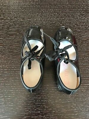 Tap Shoes Youth Girls Size 10 M Black Patent