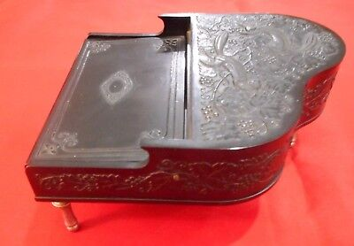 Oriental Piano Music Box, With Cigarette Lighter & Case - Black Bakelite,  As Is