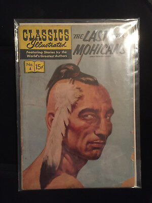 Classics Illustrated no.4 The Last of the Mohicans  13TH EDITION  NOV. 1956