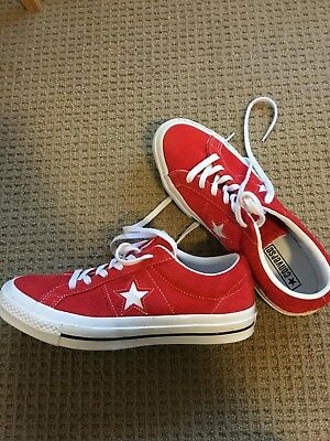 CONVERSE  One Star Red Suede Sneakers Unisex Size AUS Mens 7, Womens 9
