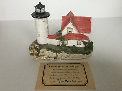 Harbour Lights #141 Cape Neddick, ME Collectors Edition Hand # 1773 with COA