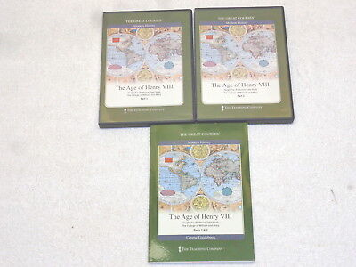 Great Courses~The Age of Henry VIII~4 DVD & Guidebook~Like New!