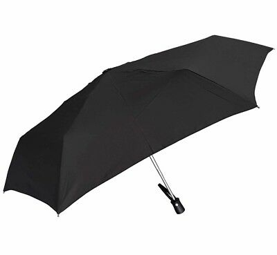 Shelta Budget Auto Open Close Featherlite Mini Compact Black Umbrella