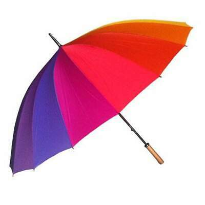 Shelta Large 16 Rib Manual Rainbow Golf Umbrella