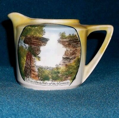 Kilbourn Wisc. Wi. Souvenir China Cream Pitcher Cold Water Canyon  Wisconsin