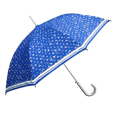 Cancer Council Navy Silver Daffodil Filigree Long UPF 50+ Umbrella