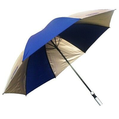 Cancer Council Silver Navy Fibreglass Golf Umbrella UPF 50+ Umbrella