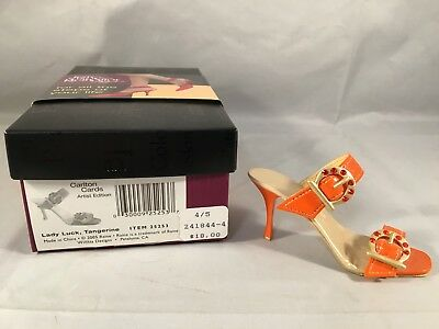 Just the Right Shoe Lady Luck Tangerine Carlton Cards Exclusive 25253 Raine