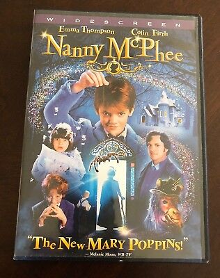 """NANNY MCPHEE WIDESCREEN DVD Emma Thompson Colin Firth """"The New Mary Poppins!"""""""