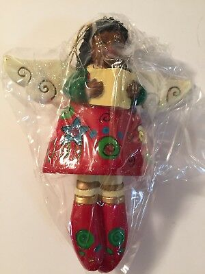 Caroling Angel African American Christmas Ornament