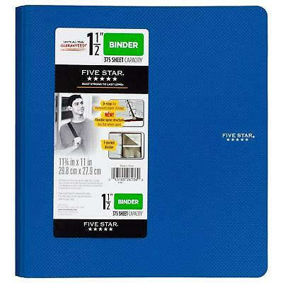 Five Star 1-1/2 Inch 3 Ring Binder, Plastic, Color Will Vary 26136