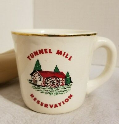 VINTAGE BSA COFFEE MUG TUNNEL MILL RESERVATION BOY SCOUTS OF AMERICA 1960s