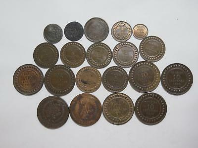 Tunisia Tunisie Ottoman Fals Nasri Centimes Mixed Type World Coin Collection Lot