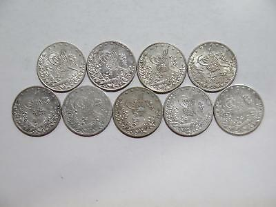 Egypt Turkey Ottoman 2 Qirsh Ah1327 1293 Silver Type World Coin Collection Lot