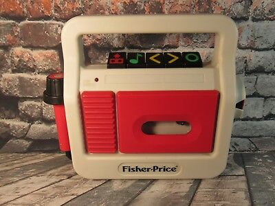 Vintage Fisher Price Tape Cassette Recorder 1987 Model# 3808 AS IS FOR PARTS