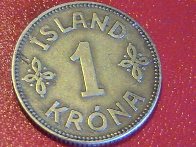 Iceland 1 Krona, 1925 COIN LITTLE WEAR