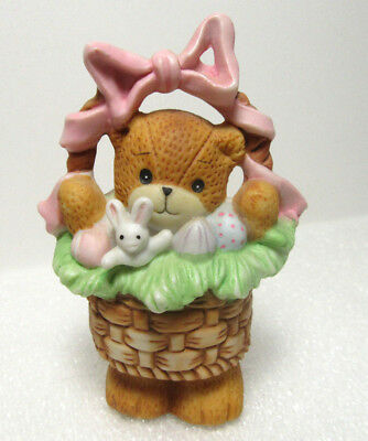 Lucy & Me ~ Easter Basket Eggs with Rabbit Springtime ~ Rigg Enesco Figurine