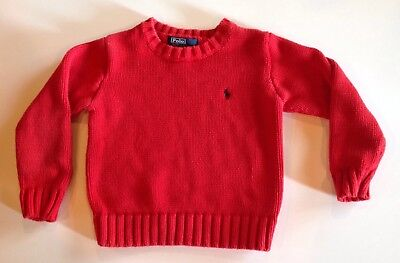 Polo Ralph Lauren Boys Red Sweater Size 4T