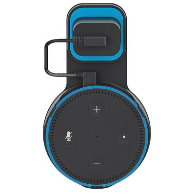 Outlet Wall Mount Hanger Holder Stand Bracket Charge Cord For Amazon Echo DOT 2