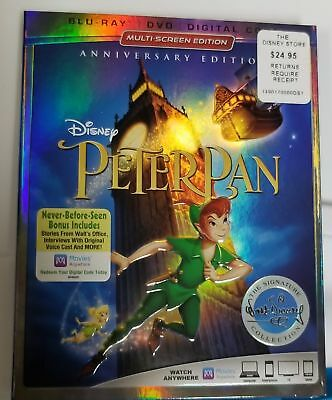 Disney Store Peter Pan Blu-ray Multi-Screen Edition W Slip Cover Anniversary