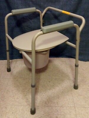 COMMODE Seat Chair Toilet Shower Medical Folding Bedside Bucket ...