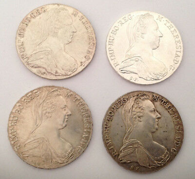 4x Maria Theresia Taler in Silber tolle Erhaltungen!!!