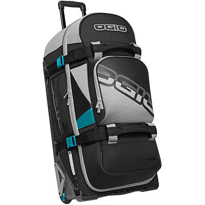 NEW Ogio Moto Rig 9800 TEAL Black travel luggage gearbag RRP $ 399