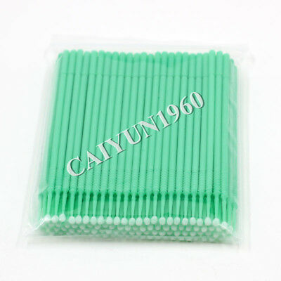 100pc Dental Disposable Micro Applicator Brush Stick Bendable Green Large CE