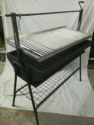 BARBACOA parrilla - plancha. Regulable. 100 cm. + REGALO cepillo-tabla-pastillas