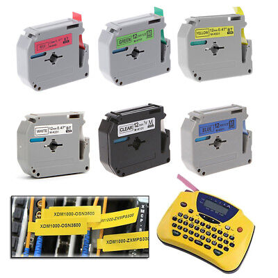 Label Tape Printer Ribbon 12mm Width MK Series For Brother P-touch Label Maker