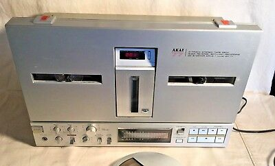 Vintage AKAI GX-77 Reel to Reel 4 TRACK tape deck player recorder + Cover WORKS