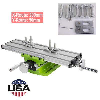 Milling Compound Worktable Cross Sliding Bench Drill Vise Fixture DIY