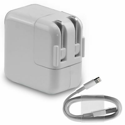 12W USB Power Adapter Wall Charger for Apple iPad 2 3 4 Air 1 2 with Cord