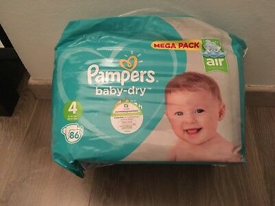 couches pampers taille 4 neuf paquet de 86