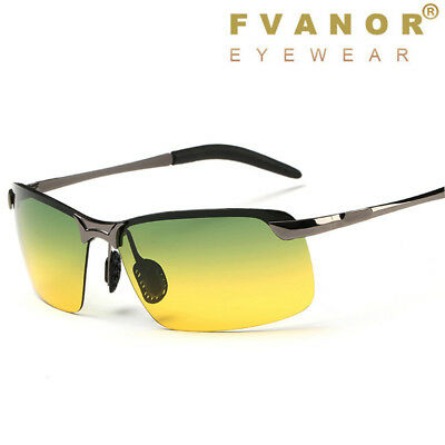 Sunglasses Polarized Day & Night Vision Driving Glasses HD UV400 Outdoor Eyewear