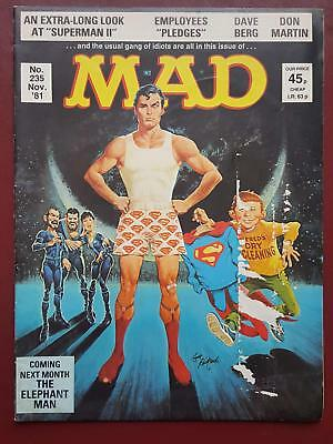 Mad Magazine No.235 - November 1981 UK Edition  - Superman #B3169