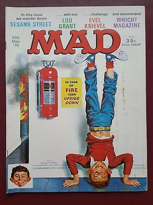 Mad Magazine No.205 - May 1979 - UK Edition  - Sesame Street - Lou Grant  #B3177