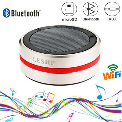LESHP Wireless Bluethooth Lautsprecher StereoSoundbox Speaker Low Frequency Gold