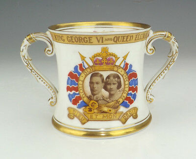 Shelley Porcelain - King George VI & Queen Elizabeth Commemorative Loving Cup