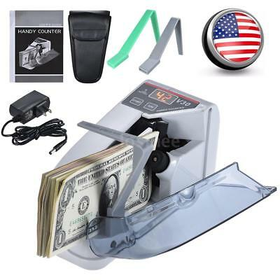 Handy Mini Bill Cash Money Currency Banknote Counting Counter V30 with Bag US