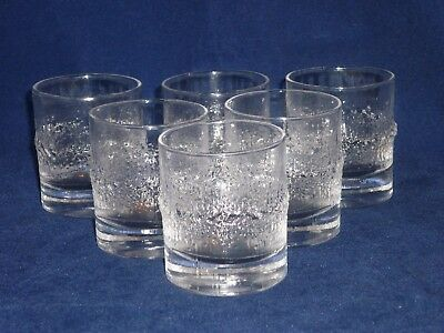 iittala Finland NIVA Set of 6 Small Schnapps Squat Glasses Scandinavian Glass