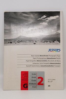 """Jessops Resin Coated Monochrome Grade 2 5"""" x 7"""" Glossy Photographic Paper"""