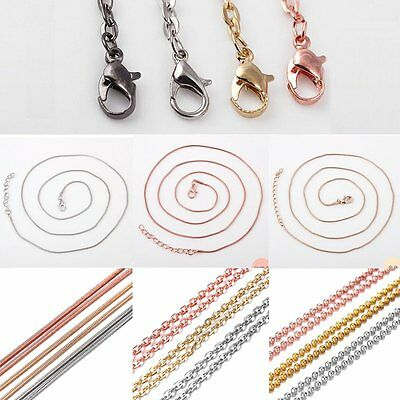 1 pc Wholesale Silver/Gold/Rose Gold Bead Chain For Womens Necklace Jewellery