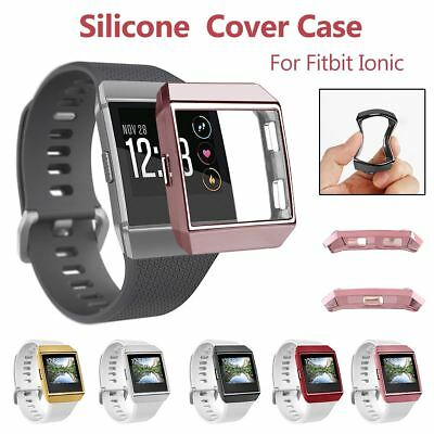 TPU Silicone Case Cover Shell Screen Protector For Fitbit Ionic Smart Watch