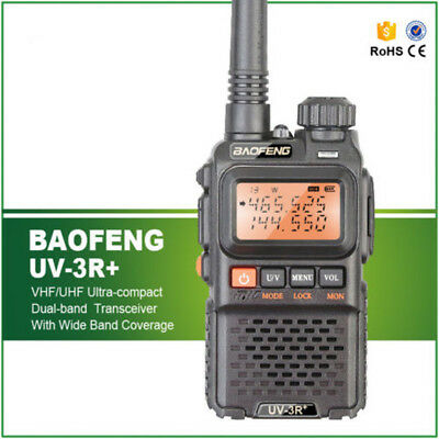 BaoFeng UV-3R Plus FM Radio Ham Flashlight UHF VHF Walkie Talkie UV 3R+ Portable