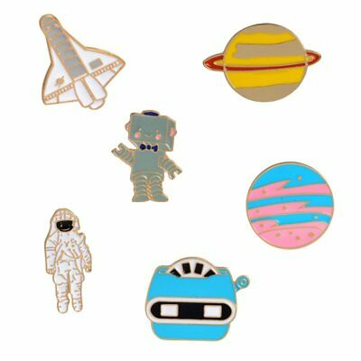 Planet Astronaut Alien Creative Collar Pins Badge Corsage Cartoon Brooch Jewerly