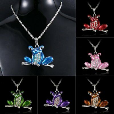 Fashion Frog Animal Pendant Necklace Sweater Long Chain Family Party Jewelry New